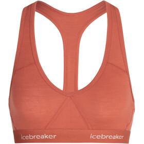 Icebreaker Sprite Racerback Reggiseno Donna, arancione